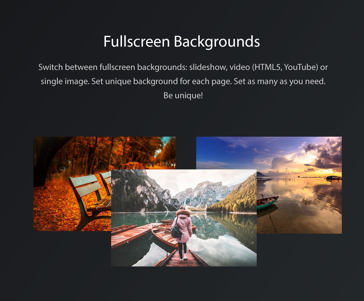 Vernissage WordPress Background Settings